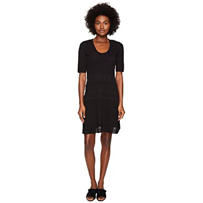 M Missoni Solid Rib Stitch Dress (Black 1) Women