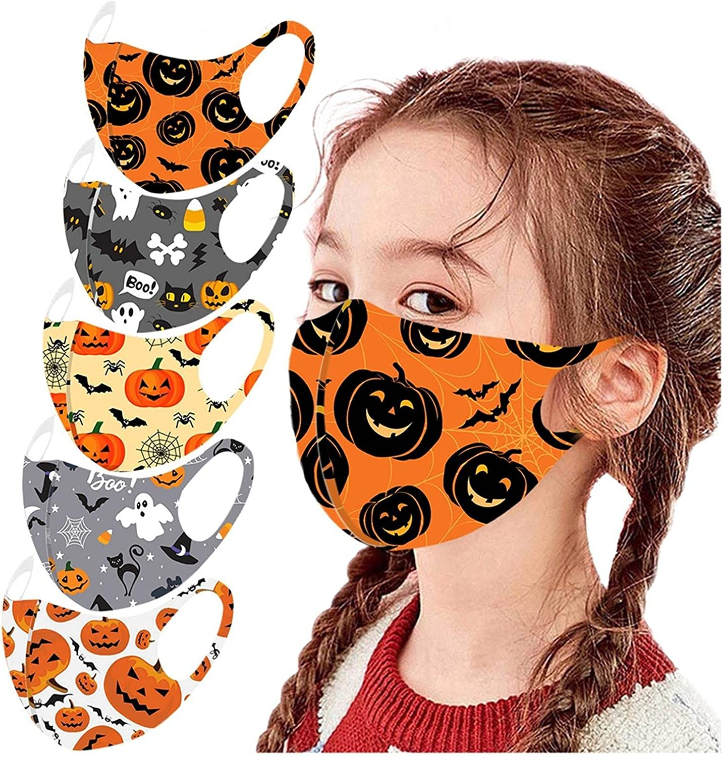MASZONE Max 48% OFF US Stock 5pcs Kids Reusable Washable Face Mask Breathab San Diego Mall