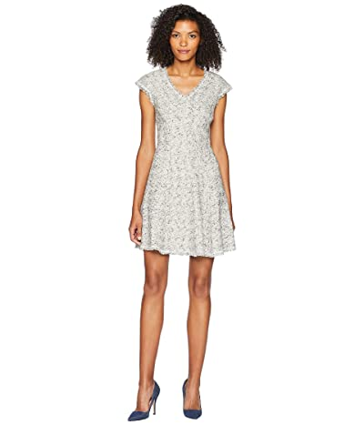 Rebecca Taylor Sleeveless Speckled Tweed Dress (Grey Combo) Women