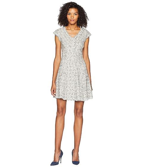 Rebecca Taylor Sleeveless Speckled Tweed Dress