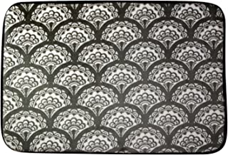 Northpoint Ruya Printed Velvet Memory Foam Bath Rug, 17 by 24-Inch, Sprout