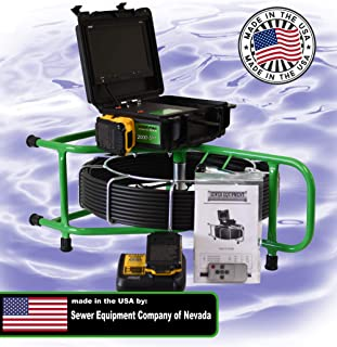 SECON-Extreme 150' Mainline Cordless Color Sewer Camera Made in The USA by Sewer Equipment Company of Nevada Designed for 3