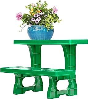 UPP soporte para macetas escalonado I banco para plantas y flores I estantería para macetas I estante de patio y jardín para macetas, dos escalones