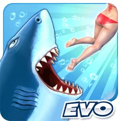 Feast on tasty sea creatures, swimmers, turtles and fishermen to grow into a giant Jaw dropping 3D graphics and action packed gameplay Progress to unlock the most ferocious beasts in the sea: Mako Shark, Hammerhead, Tiger Shark, Great White, Megalodo...