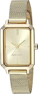 Nine West Women's Gold-Tone Mesh Bracelet Watch, NW/2342CHGP