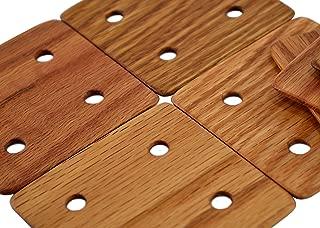 Tablet Weaving Cards, 4 Hole, Set of 10, Oak