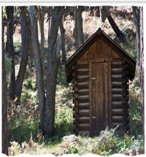 wanxinfu Outhouse Shower Curtain 36