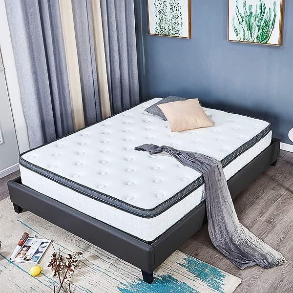 记忆棉 8-12 英寸密度床垫弹簧大号床垫 UPS 女王