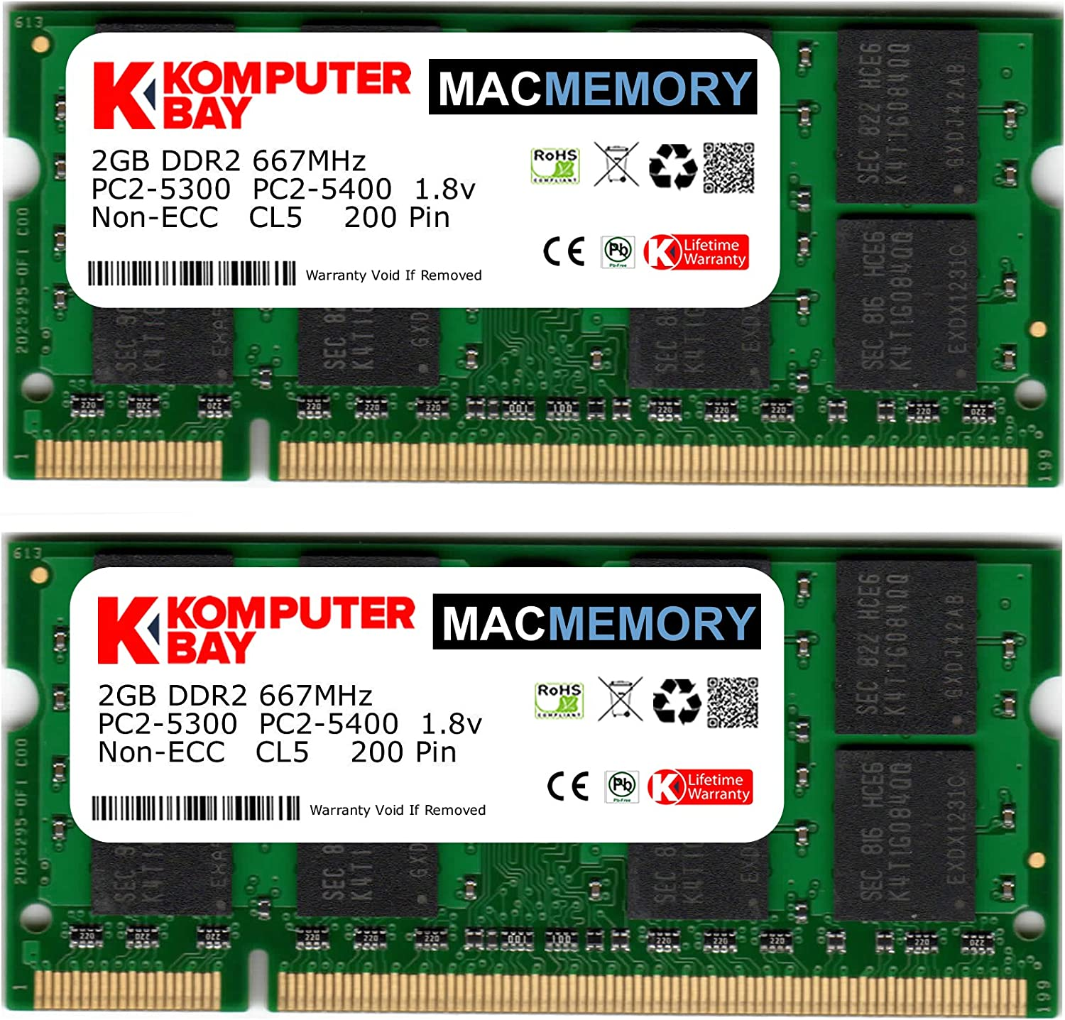 2GB DDR2-667 PC2-5300 ECC RAM Memory Upgrade for the Polywell Computers PolyServer 8425SS32