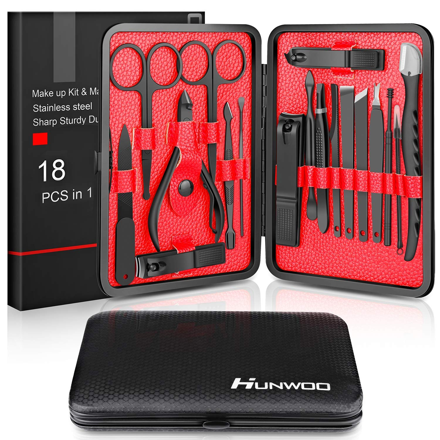 Manicure Set Hunwoo Clippers Stainless Professional