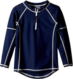 Toobydoo - Navy Rashguard w/ Long Sleeves (Infant/Toddler/Little Kids/Big Kids)