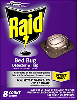 Raid Bed Bug Detector and Trap, 8 Count