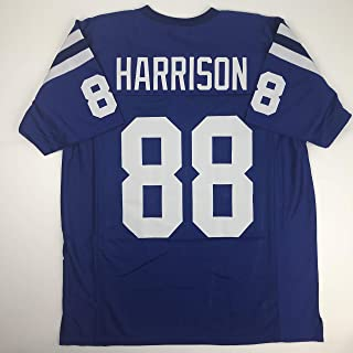 Unsigned Marvin Harrison Indianapolis Blue Custom Stitched Football Jersey Size Men's XL New No Brands/Logos
