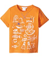 Little Marc Jacobs - Sea Animation Or Boat Print Short Sleeve Tee Shirt (Toddler/Little Kids)