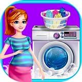 Mutter Waschen MädchenKleidung