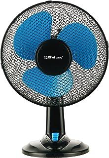 Belaco 12inch Blue Table Fan Desk Fan with 3 Speed Oscillating cooling fan Stand Fan floor fan Low Noise Strong Resistant ...