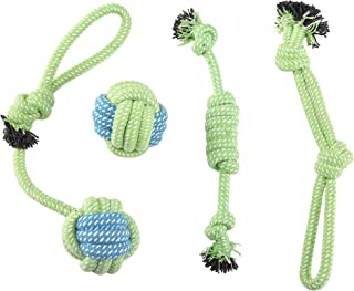 GOGOPETS Dog Chew Toys Rope - Rope Puppy Chew Toys Washable Cotton Rope Toys Set for Small Dog Puppy Pet(4 Packs/Set)