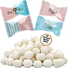 Gender Reveal Buttermints, Mint Candies, After Dinner Mints, Butter Mint Candy, Fat-Free, Individually Wrapped (110 Pieces)