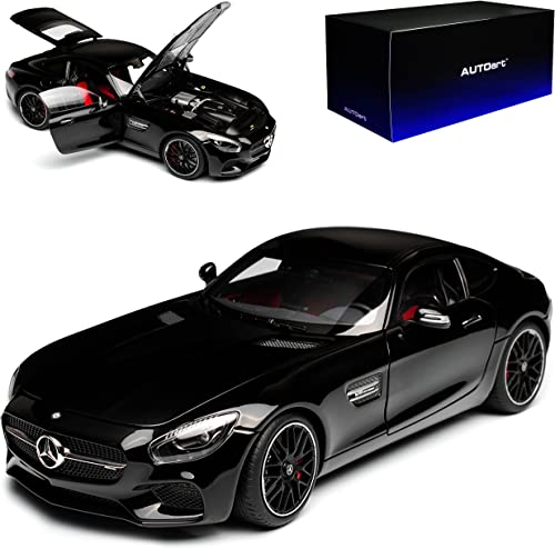 AUTOart Mercedes-Benz AMG GT S Schwarz2015 76313 1 18 Modell Auto mit individiuellem Wunschkennzeichen