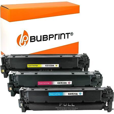 Bubprint 3 Toner Kompatibel Für Hp Cc531a Cc532a Cc533a Hp 304a Für Color Laserjet Cm2320fxi Cm2320nf Cm2320n Mfp Cp2020 Cp2025 Cp2025n Cp2025dn C M Y Bürobedarf Schreibwaren