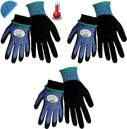 12 Pair Pack Samurai CR18NFT Hi-Vis Cut Resistant Nitrile Grip Glove Extra Large ANSI Cut Level 2,