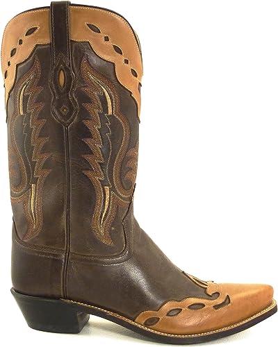 Westernwear-Shop Herren Westernstiefel Paulo Cowboystiefel BZW. Cowboy Stiefel & Bikerstiefel Westernstiefel für Herren Braun
