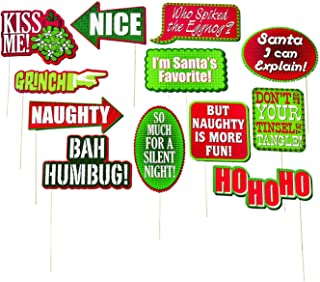Paper Christmas Conversation Bubble Party (12 pieces) Photo Props, Holiday Party Accessories