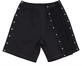 snap button basketball pants