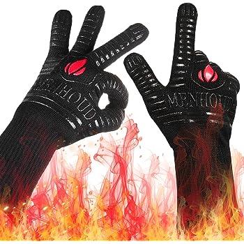 Alta Protección Contra El Calor Guantes de Horno hasta 250c Fácil Agarre Dedos para la cocina o barbacoas