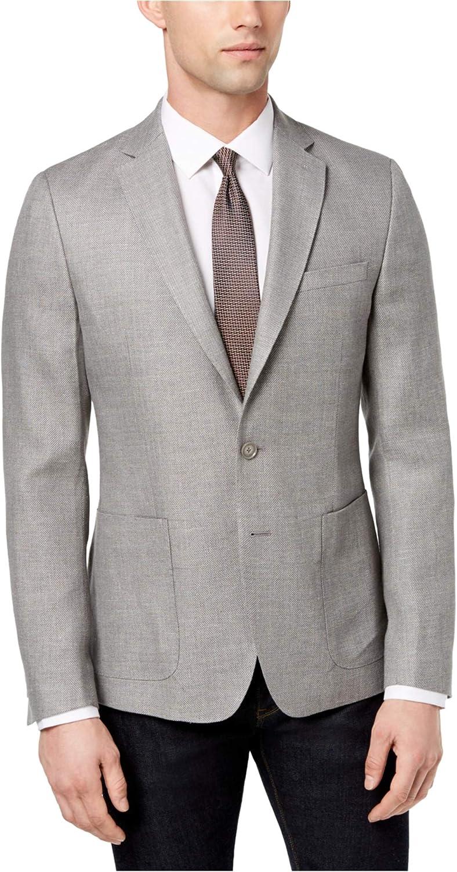 DKNY Mens Modern Fit Sport Coat, Grey