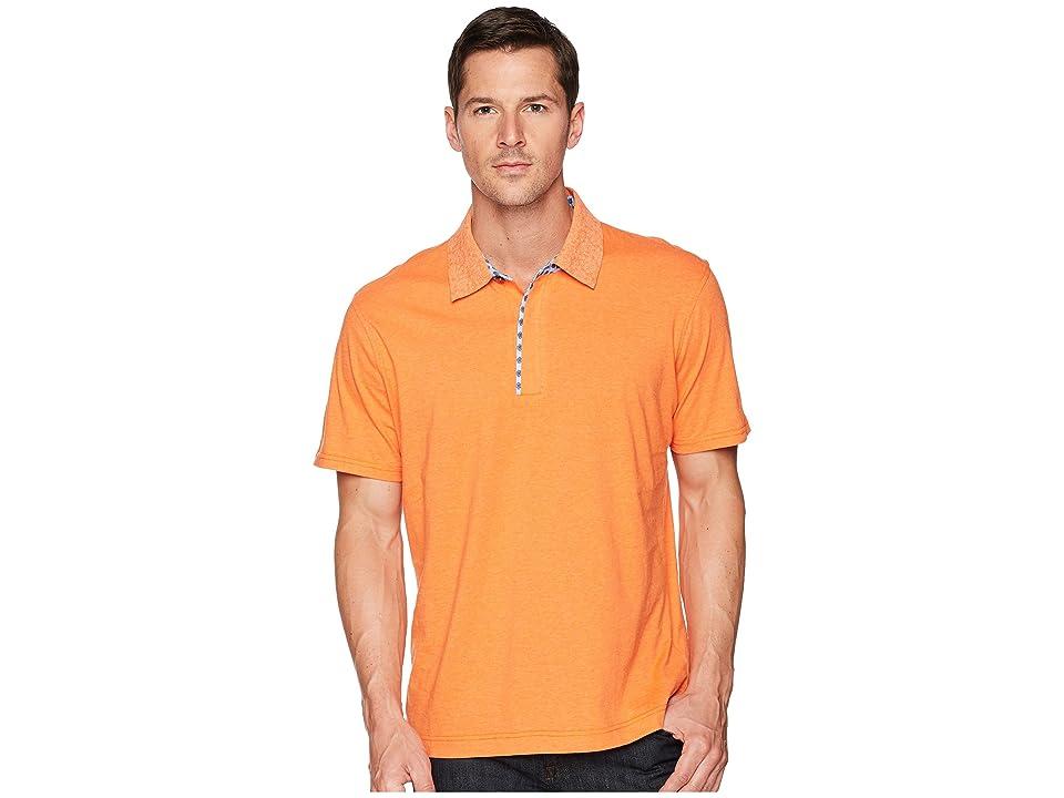 Robert Graham Diego Short Sleeve Knit Polo (Orange) Men