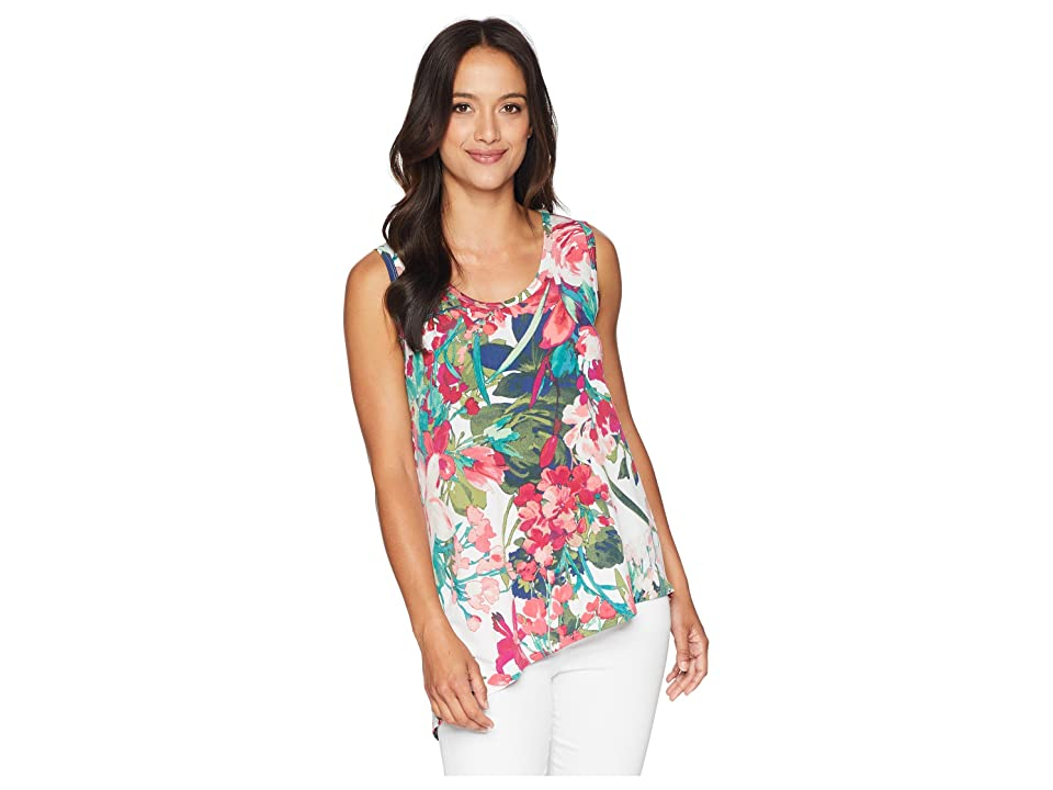 Karen Kane Asymmetric High-Low Tank Top (Print) Women