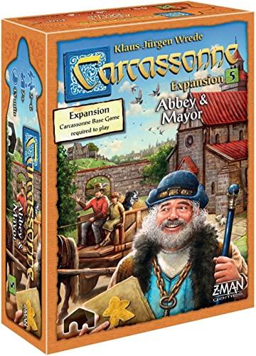 Carcassonne Abbey & Mayor Board Game