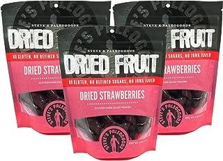 Steve's PaleoGoods, Dried Fruit Strawberries, 6 oz (Pack of 3)