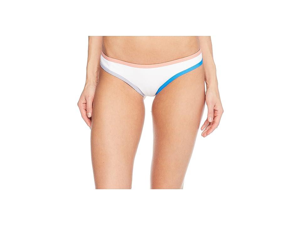 Tavik Jayden Moderate Swim Bottom Color Blocked (White/Coral) Women