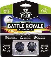 KontrolFreek FPS Freek Battle Royale Nightfall Performance Thumbsticks for Xbox One | Performance Thumbsticks | 2 High-Rise Convex | Black
