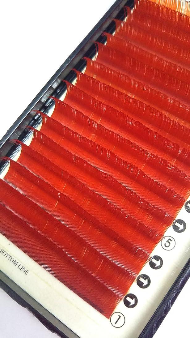 洪水乱雑な知事ノーブランド品 まつ毛エクステ ミンク/レッド(Nカール)0.20mm × 12mm