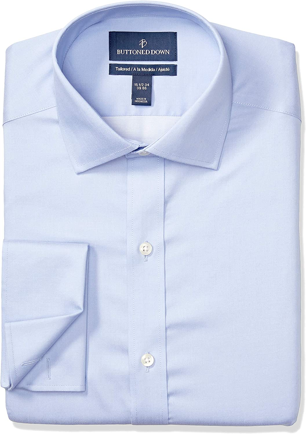 Buttoned Down お洒落 Men's Tailored Fit Shirt French Dress Supima 期間限定で特別価格 Cuff