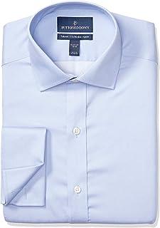Marchio Amazon - Buttoned Down, camicia da uomo, vestibilità su misura, con polsino francese, in cotone Supima, non necess...