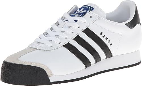Adidas Originals Samoa Retro Turnschuhe Running schuhe, Weiß schwarz, Men& 39;s 14 Medium