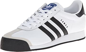 adidas Originals Samoa Retro Sneaker Running Shoe, White/Black, Men's 10.5, Women's 11.5 Medium