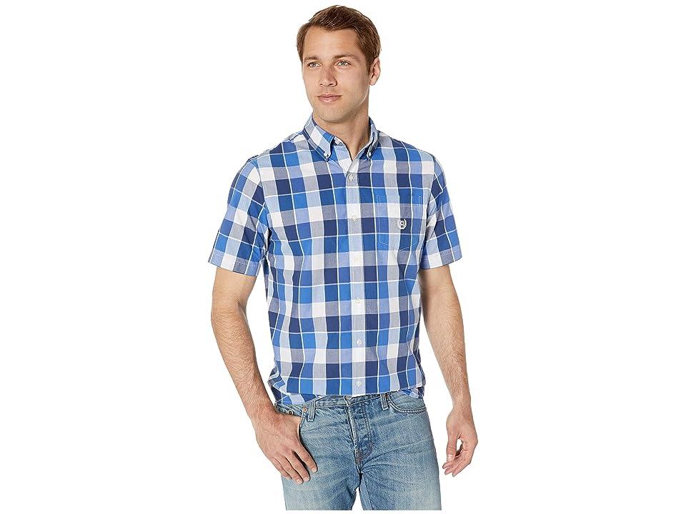 CHAPS Easy-Care Short-Sleeve Sport Shirt (Blue 2) Men