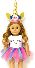 My Genius Dolls Unicorn Clothes, Headband, Tutu - Fits All 18 Inch Dolls Like Our Generation My Life Gotz and American Girl Doll | Accessories, Outfits, Gift (Doll Not Included)