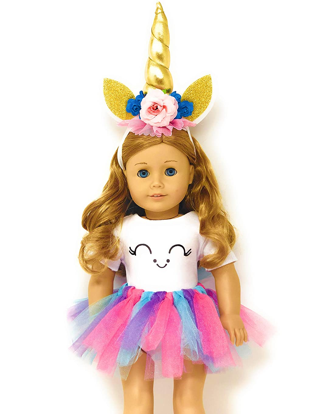 Genius Dolls Unicorn Clothes, Headband, Tutu -fits all 18 inch dolls like American Girl, Our Generation My Life Adora Gotz   great gift for little and big girls   Accessories, Outfits,Horn and Costume