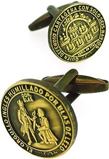 Gemelolandia | Gemelos de Camisa Medalla de Blas de Lezo Homenaje Gemelos Originales Para Camisas | Para Hombres y Niños |...