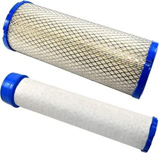 HQRP Air Filter & Inner Filter Works with Briggs & Stratton 841497, 821136, 4235, 4236 B&S 540000/610000 Series Engines Pl...