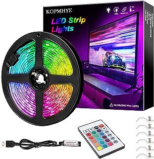 3M RGB LED Strip Lights, IP65 Waterdicht Gekleurde USB TV Backlights met afstandsbediening, 16 Kleur Veranderende 180 5050...