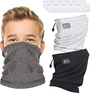 3 Pack Kids Neck Warmer with Filter, Neck Gaiters for...