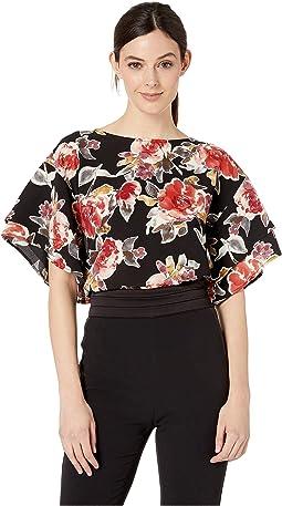 Black Large Floral