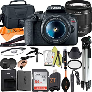 Canon EOS Rebel T7 DSLR Camera 24.1MP Sensor with EF-S 18-55mm Lens, SanDisk 64GB Memory Card, Case, Tripod and ZeeTech Ac...